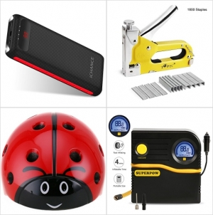 [Amazon折扣碼] 16000mah行動電源/充電寶, 3合1釘槍及釘針, 兒童瓢蟲安全帽, 電動充氣機 額外折扣!