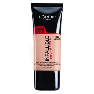 ihocon: L'Oréal Paris Makeup Infallible Pro-Matte Foundation, 102 Shell Beige, 1 fl. oz. 粉底液