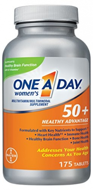 ihocon: One A Day Women's 50+ Healthy Advantage Multivitamin Multimineral Supplement Tablets, 175 Count 女性銀髮族綜合維他命