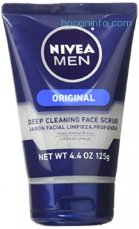 ihocon: NIVEA Men Deep Cleaning Face Scrub 4.4 Ounce (Pack of 3) (Packaging May Vary)