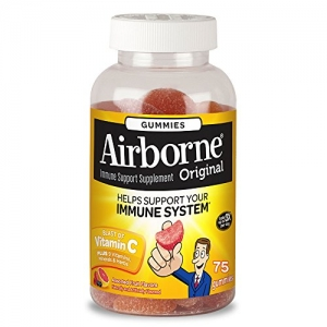 ihocon: Airborne Assorted Fruit Flavored Gummies, 75 count - Vitamin C plus Minerals & Herbs Immune Support 軟糖