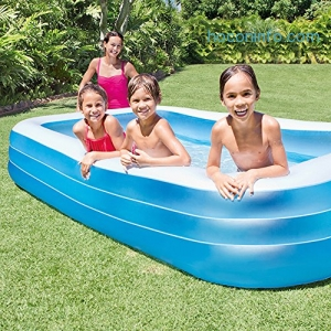 ihocon: Intex Swim Center Family Inflatable Pool, 120 X 72 X 22, for Ages 6+ 充氣游泳池