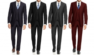 ihocon: Braveman Men's Slim-Fit Suits (3-Piece)