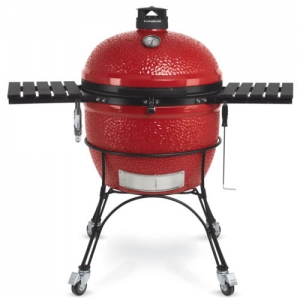ihocon: Kamado Joe Big Joe II 24 Inch Portable Outdoor Ceramic Charcoal BBQ Grill, Red      陶瓷炭烤肉爐