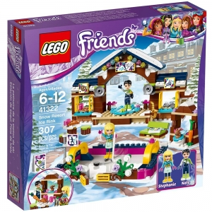 ihocon: LEGO樂高 Friends系列 Snow Resort Ice Rink 41322 Building Kit (307 Piece) 朋友雪地度假村溜冰場