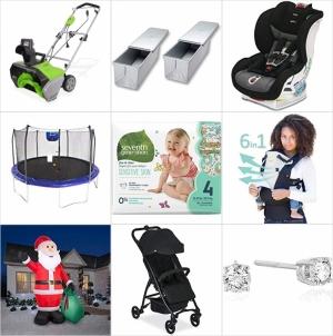 [Amazon今日特賣一覽] 電動除雪機, 彈跳床, 各式烤盤, 天然成份嬰兒用品, 充氣聖誕裝飾, Britax 兒童推車及汽車座椅, Lillebaby嬰兒背帶, 鑽石首飾特賣