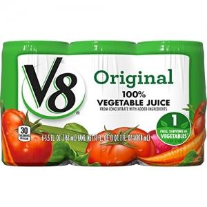 ihocon: V8 Original 100% Vegetable Juice, 5.5 oz. Can (8 packs of 6, Total of 48)蔬菜汁
