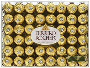 ihocon: Ferrero Rocher Fine Hazelnut Chocolates, 48 Count 48粒金莎巧克力