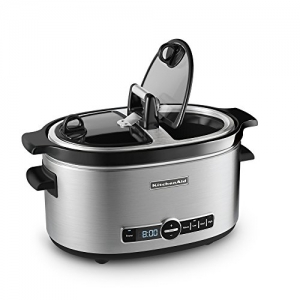 ihocon: KitchenAid KSC6222SS Slow Cooker with Easy Serve Glass Lid, 6 quart 不銹鋼慢燉鍋