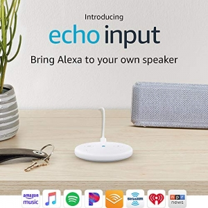 ihocon: [將家中現有Speaker加上Alexa] Echo Input – Bring Alexa to your own speaker- White