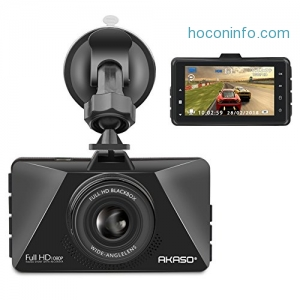ihocon: Akaso Dash Cam FHD 1080P 3 Inch Screen Dash Camera 行車記錄器