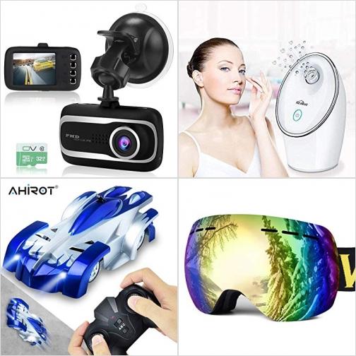 [Amazon折扣碼] 行車記錄器, 蒸臉器, 遙控爬牆車, 滑雪護目鏡 額外折扣!