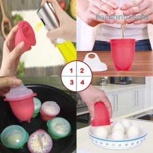 ihocon: Microwave Egg Cooker-Silicone Egg Maker矽膠微波煮蛋器一組6個