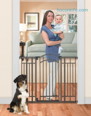 ihocon: Summer Infant Multi-Use Deco Extra Tall Walk-Thru Gate, Bronze幼兒,寵物安全門