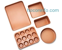 ihocon: Gotham Steel 5 Piece Copper Bakeware Set烤盤組
