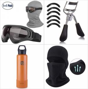 [Amazon折扣碼] 保暖面罩及護目鏡, 睫毛夾, 不銹鋼保温水瓶 額外折扣!