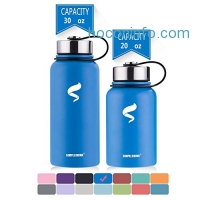 ihocon: BPA Free Metal Stainless Steel Insulated Water Bottle