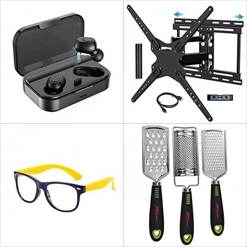 [Amazon折扣碼] 真無線耳機, 電視固定架, 軟質兒童抗藍光眼鏡, 刨絲磨泥器 額外折扣!