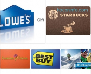 ihocon: $100 Lowe's Gift Card只賣$91 - FREE Mail Delivery