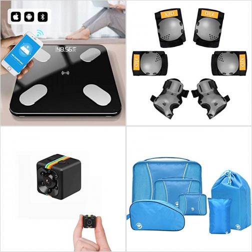[Amazon折扣碼] 體脂體重計, 兒童運動護膝/護肘/護腕, 針孔攝影機, 行李衣物收納袋 額外折扣!