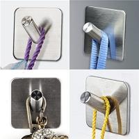 ihocon: IKDMJ 3M Self-Adhesive Bevel Angle Wall Hooks,4 Pcs 不銹鋼掛勾