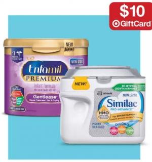 Target: 買3罐嬰兒奶粉就送$10 Gift Card