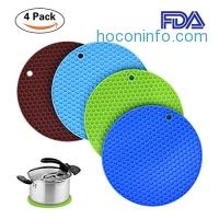 ihocon: Silicone Pot Holders矽膠隔熱墊4個