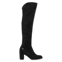 ihocon: Liz Claiborne Womens Anabella Over the Knee Block Heel Zip Boots
