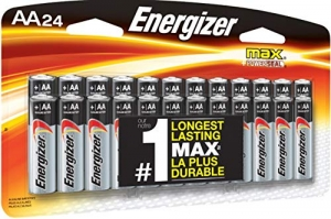 ihocon: Energizer AA Batteries, Double A Battery Max Alkaline (24 Count) E91BP-24  鹼性電池