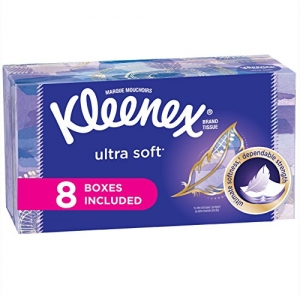 ihocon: Kleenex Ultra Soft Facial Tissues, Flat Box, 130 Tissues per Flat Box, 8 Packs抽取式面紙