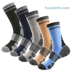 ihocon: NEEKFOX Mens Cushion Crew Hiking Sport Moisture Wicking Socks男士登山運動襪