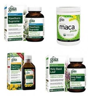 ihocon: Gaia Herbs Gelatinized Vegan Maca Powder, USDA Organic, 16 Ounce 有機瑪卡粉