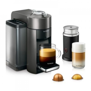 ihocon: DeLonghi Nespresso Vertuo Coffee and Espresso Machine with Aeroccino (Titan)義式濃縮咖啡機 + Aeroccino奶泡機