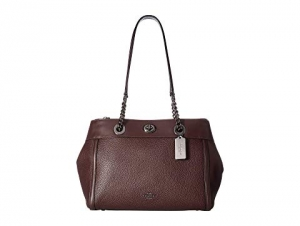 ihocon: COACH Turnlock Edie Carryall in Mixed Leather