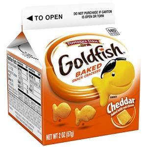 ihocon: Pepperidge Farm, Goldfish, Crackers, Cheddar Cheese, 2 oz, Carton, 48-count  ,小魚餅乾