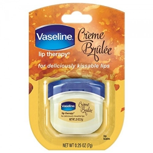 ihocon: Vaseline Lip Therapy Lip Balm Mini, Creme Brulee, 0.25 oz 凡士林護唇膏