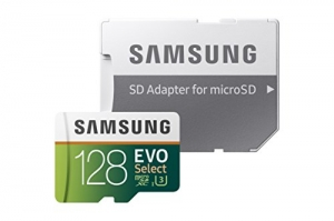 ihocon: Samsung 128GB 100MB/s (U3) MicroSD EVO Select Memory Card with Adapter (MB-ME128GA/AM)