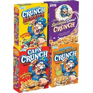 ihocon: Cap'N Crunch Breakfast Cereal, Variety Pack, 14 oz (4 Count) 早餐麥片