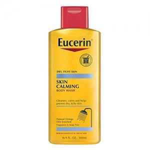 ihocon: Eucerin Skin Calming Dry Skin Body Wash Oil Fragrance Free, 8.4 Ounce (Pack of 3) 乾性皮膚沐浴乳