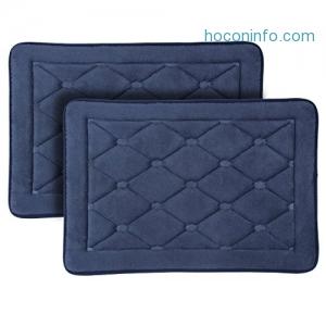 ihocon: LANGRIA Memory Foam Bathroom Rugs,17'' x 24'' (2 Pieces)記憶棉地墊