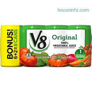 ihocon: V8 Original 100% Vegetable Juice, 5.5 oz. Can (Pack of 48)