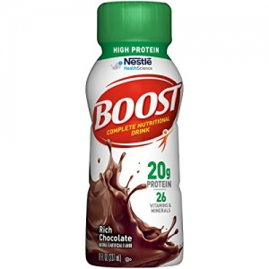 ihocon: Boost High Protein Complete Nutritional Drink, Rich Chocolate, 8 fl oz Bottle, 24 Pack 高蛋白質營養飲料