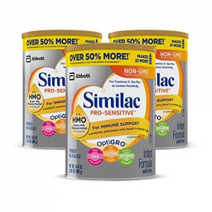 ihocon: Similac Pro-Sensitive Non-GMO Infant Formula with Iron, with 2'-FL HMO, for Immune Support, Baby Formula, Powder, 34.9 oz, 3 Count (One-Month Supply)嬰兒奶粉