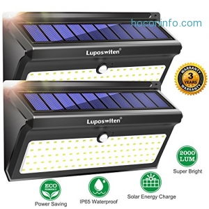 ihocon: Luposwiten Outdoor 100 LED's Motion Sensor Wireless Security Solar Lights [2PACK]太陽能動作感應庭園燈