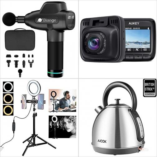 [Amazon折扣碼] 深層按摩槍, 行車記錄器, 手機自拍神器, 不銹鋼電熱水瓶 額外折扣!