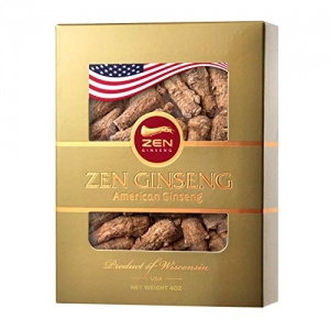 ihocon: ZenGinseng USA Short Round American Wisconsin Ginseng Root (4oz/Box)美國威斯康辛州花旗蔘