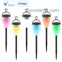 ihocon: Aglaia Color Changing Solar Lights Outdoor, Pack of 6