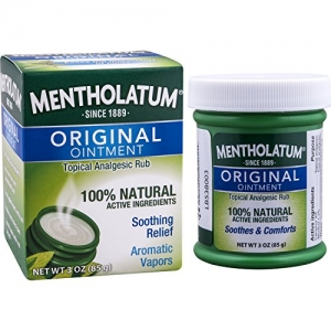 ihocon: Mentholatum Original Ointment, 3 ounce (85g) – 100% Natural Active Ingredients for soothing relief