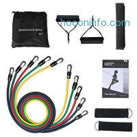 ihocon: Mpow 12pcs Resistance Bands set 運動健身彈力帶