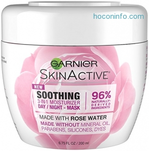 ihocon: Garnier SkinActive 3-in-1 Face Moisturizer with Rose Water,  6.75 fl. oz.